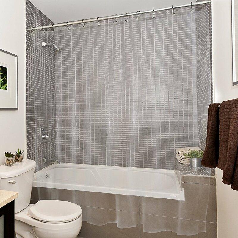 Symple Stuff Bath Vinyl Single Shower Curtain Liner Wayfair