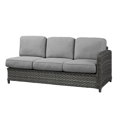 Sofa With Cushion Wildon Home Frame Finish Grey Fabric