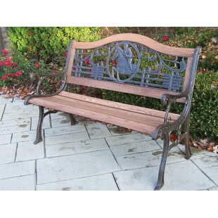 Horse Wood and Cast Iron Park Bench by Oakland Living