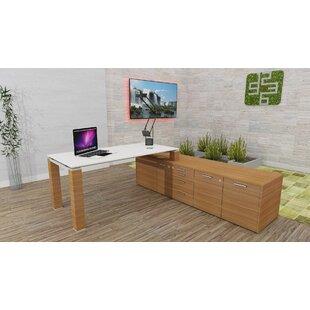 Annmarie L-Shape Executive Desk By Ebern Designs