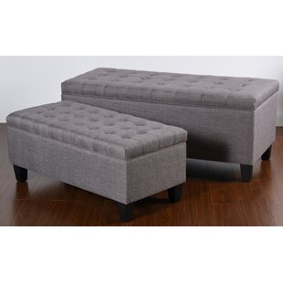 Danger 2 Piece Tufted Upholstered Storage Bench Set