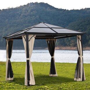 Rockoff 3m X 3m Metal Patio Gazebo By Sol 72 Outdoor