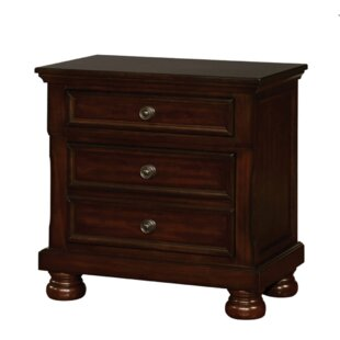 Canora Grey Bayhills 3 Drawer Nightstand