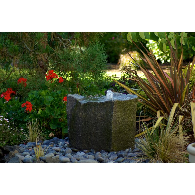 Detail Of One Man Boulder Edging For Raised Beds: LiquidArtFountains Glass Fiber Reinforced Concrete Rock