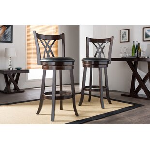 Carnegie 29 Swivel Bar Stool (Set of 2) by Red Barrel Studio