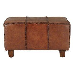 Adamson Genuine Leather Bench By Williston Forge