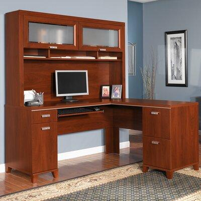 Beachcrest Home Oakridge L-Shaped Executive Desk with Hutch ...