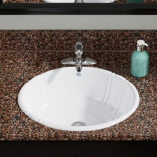 Vitreous China Oval Drop-In Bathroom Sink with Overflow ByMR Direct