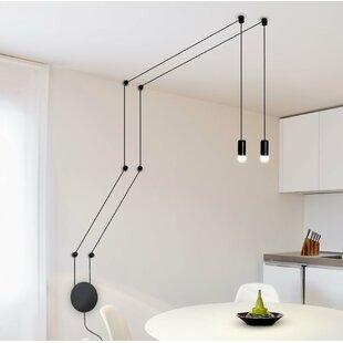 Quaoar Wall Fixture 2-Light LED Bulb Pendant by Brayden Studio