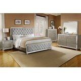 Nicholes Fancy Queen Platform 4 Piece Bedroom Set by Rosdorf Park