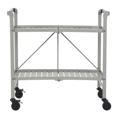 Greenbush Bar Cart Frame Color: Silver by Beachcrest Home