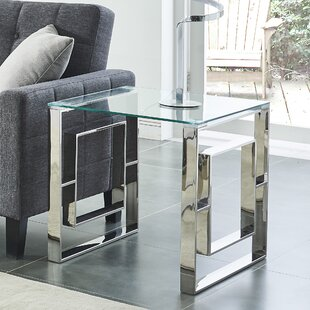 Melendez Stainless Steel End Table by House of Hampton