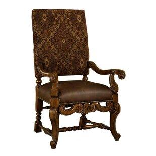 Tuscano Genuine Leather Upholstered Dinin..