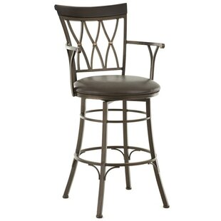 Ellis Island 30 Swivel Bar Stool Red Barrel Studio