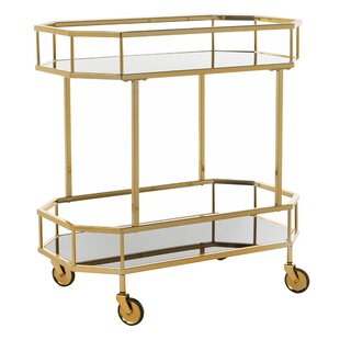 Beaminster 2 Tier Octagon Bar Cart by Everly Quinn
