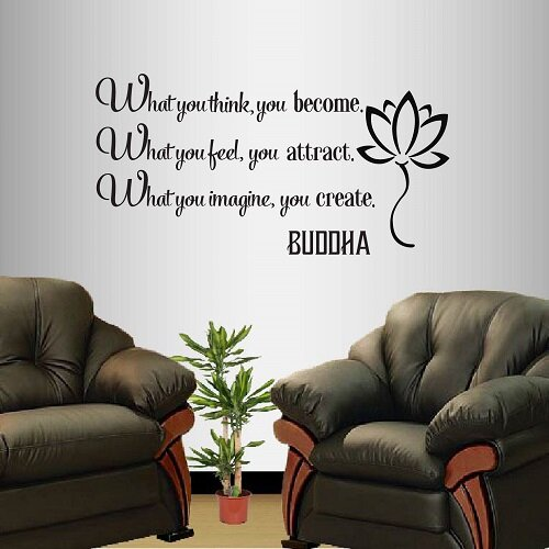 Buddha Quote What You Think You Become Wall Decal
