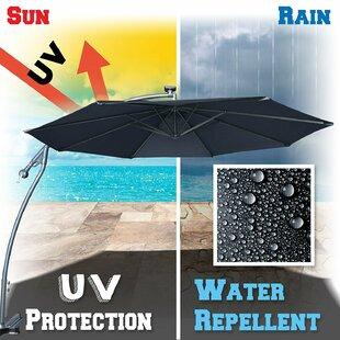 Clara Patio 10' Square Cantilever Umbrella by Freeport Park