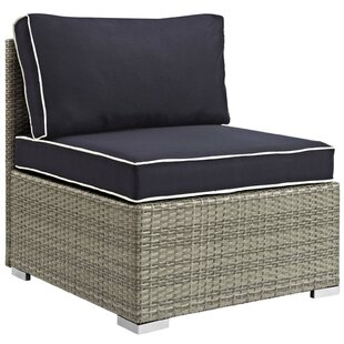 Heinrich Outdoor Armless Patio Chair with Cushion
