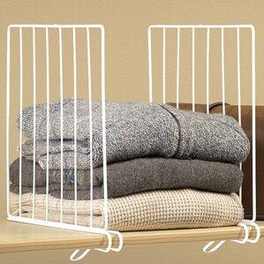 Wire Closet Shelf Divider (Set Of 4)
