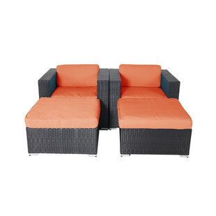 Hibner 4 Piece Lounge Chair Set with Cushions