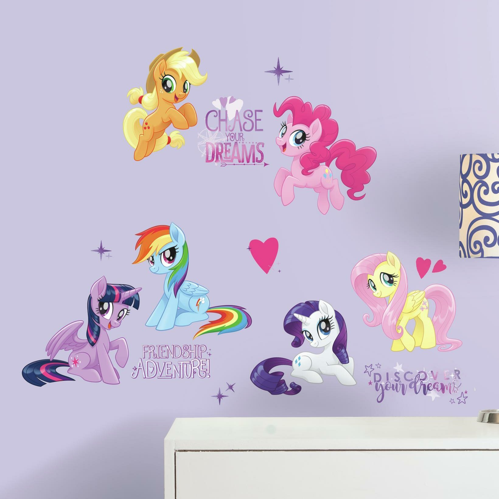 Room Mates My Little Pony The Movie Peel And Stick Wall Decals Reviews Wayfair