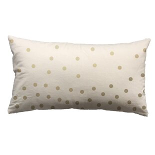 Clairsville Foil Small Dots Lumbar Pillow
