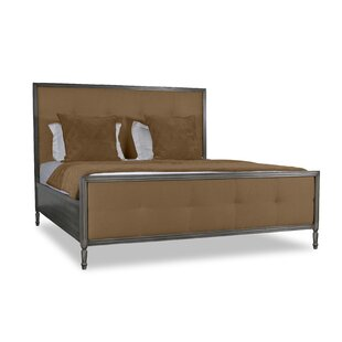 Faisan Button Tufted Upholstered Panel Bed