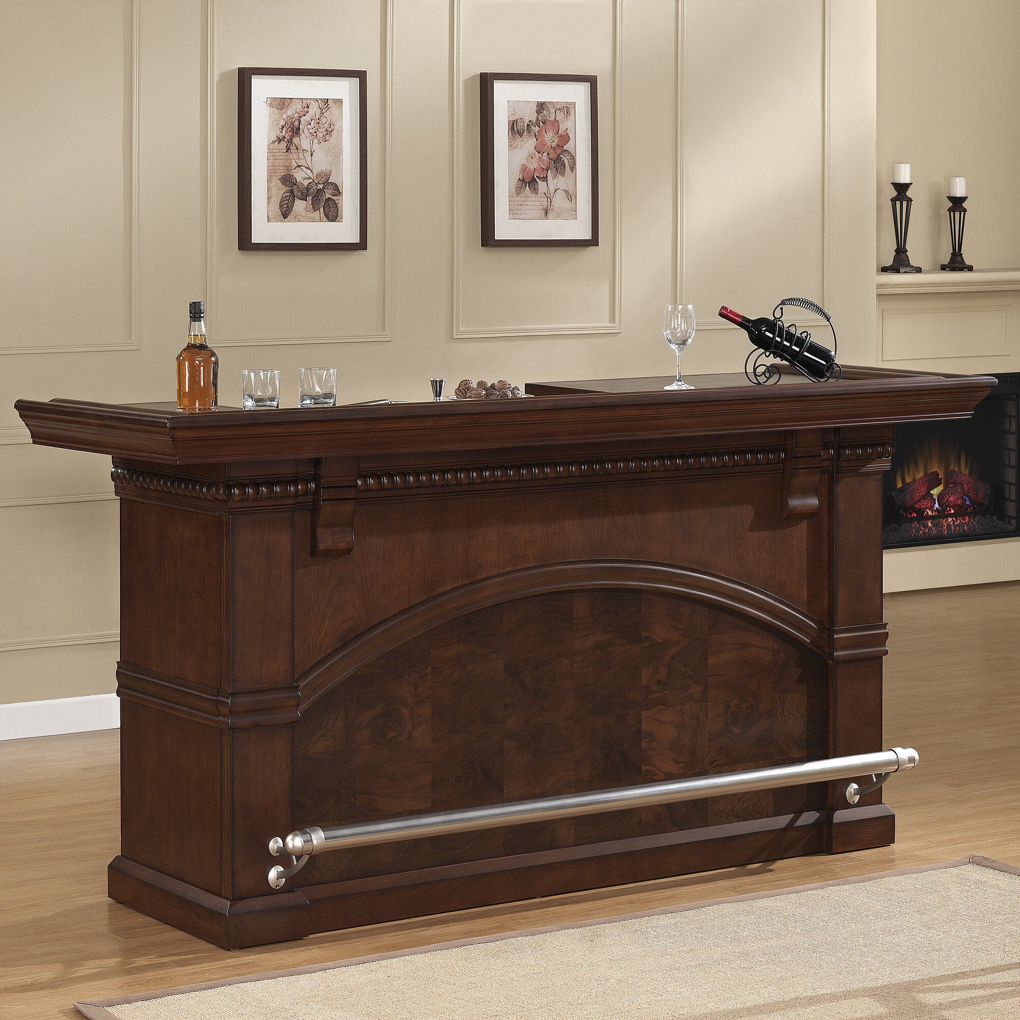 American Heritage Carmella Bar With Wine Storage | Wayfair