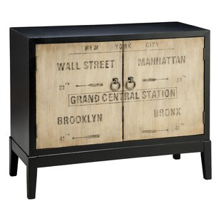 Painted Treasures Vintage Transit Inspired 2 Door Accent Cabinet by Stein World