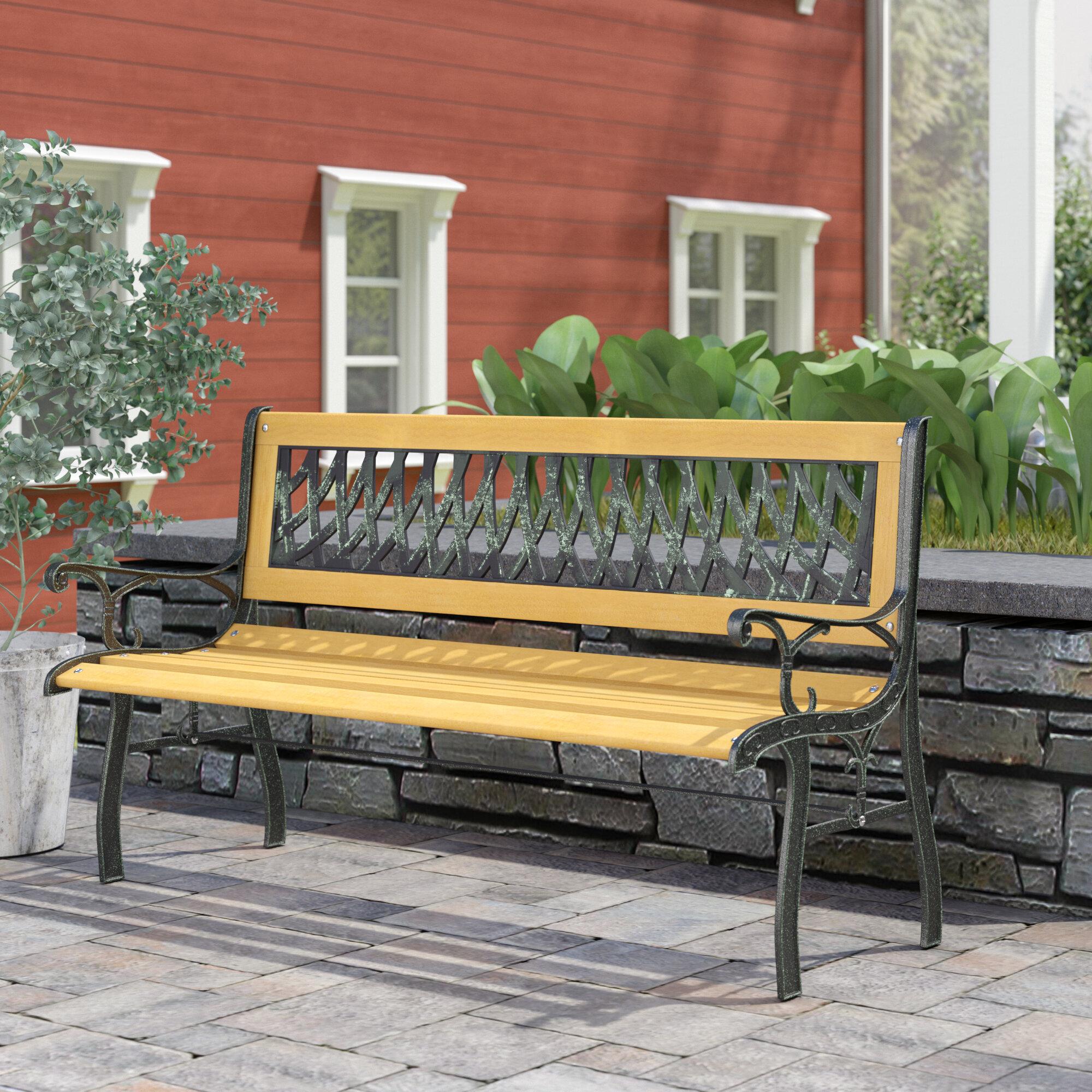 Winston Porter Regis Metal Garden Bench Reviews Wayfair