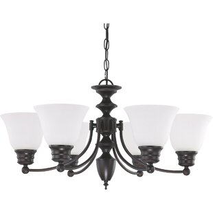 Kavanagh 6-Light Shaded Chandelier by Charlton Home