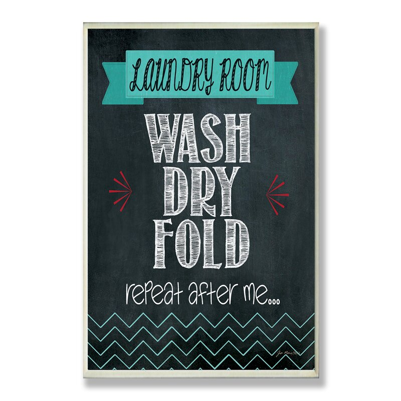Wash Dry Fold Chalkboard-look Wall Plaque