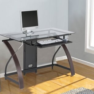 Hille Glass Computer Desk by Symple Stuff Top Reviews