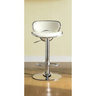 Colleton Adjustable Height Swivel Bar Stool Orren Ellis