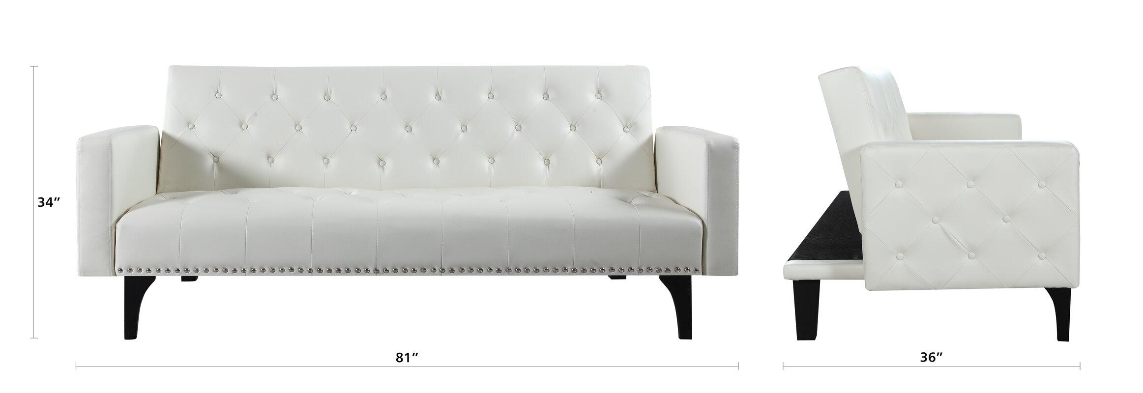 High Quality Rathbun Modern Tufted Reclining Sleeper Sofa