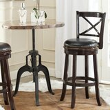 Brockway Swivel Bar Stool by Charlton Home®