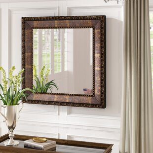 Purchase Bronze Wood Roman Bathroom / Vanity Mirror By Fleur De Lis Living