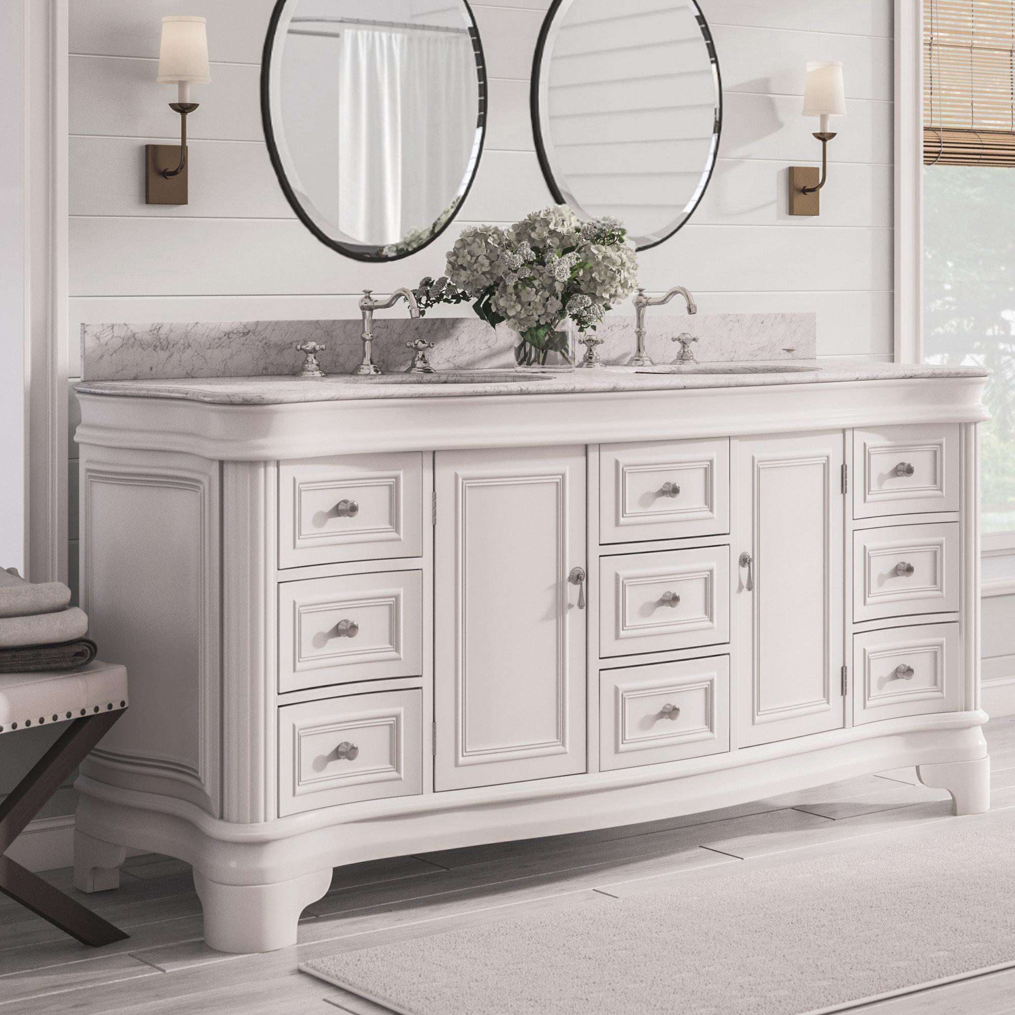 Terrific Double Vanity With Makeup Wayfair Interior Design Ideas Skatsoteloinfo
