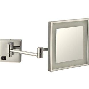Best Reviews Square Wall Mounted Bathroom / Vanity Mirror ByGlimmer by Nameeks