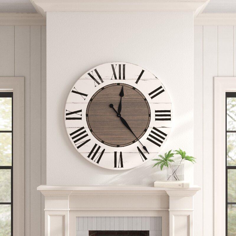 Birch Lane Oversized Froehlich Wall Clock Reviews Wayfair