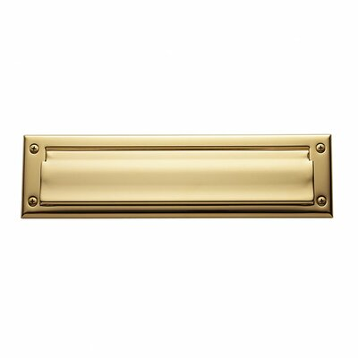 Baldwin 13 in x 3.6 Brass Mail Slot Color: Lifetime Polished Brass