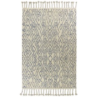 Berglund Hand-Knotted Wool Ivory Area Rug