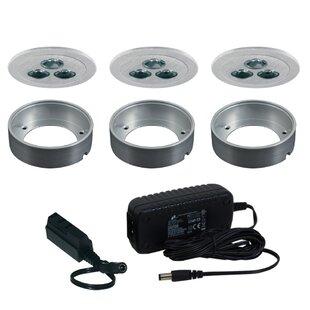 Jesco Lighting Silm Disk LED Under Cabinet Recessed Light Kit
