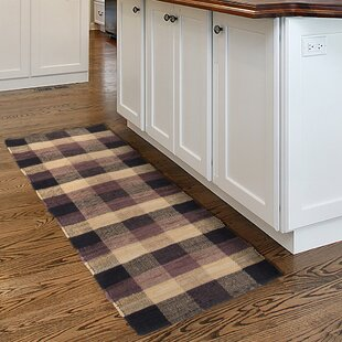 Great Price Brisbin Plaid Accent Hand-Woven Black Area Rug ByAugust Grove