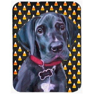 Halloween Candy Corn Great Dane Puppy Glass Cutting Board ByCaroline's Treasures