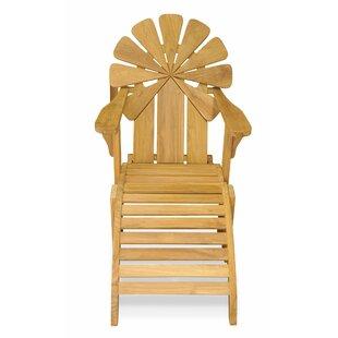 Veun Petals Adirondack Chair with Ottoman (Set of 2)