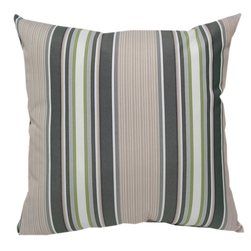 Red Barrel Studio Wurthing Waterproof Outdoor Striped Throw Pillow
