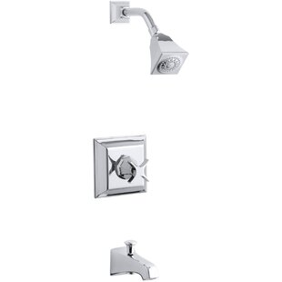 Kohler Memoirs Stately Rite-Temp Pressure-Balancing Bath and Shower Faucet Trim with Cross Handle, Valve Not Included
