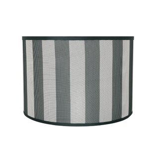 Transitional 16 Fabric Drum Striped Lamp Shade