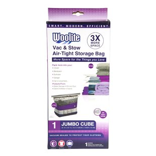 Woolite Air Jumbo Cube Vacuum Seal Bags